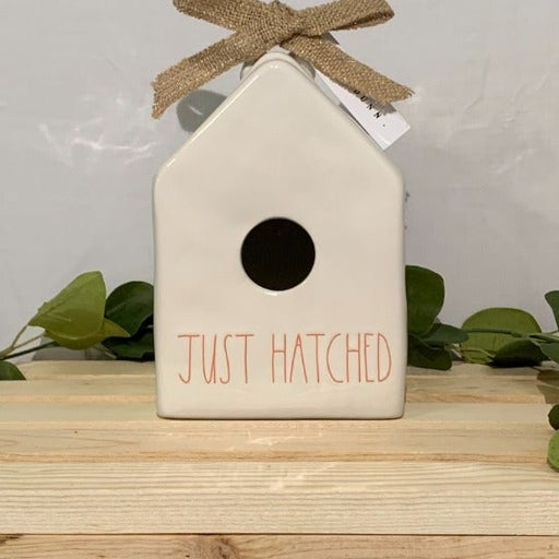 Rae Dunn JUST HATCHED Birdhouse White