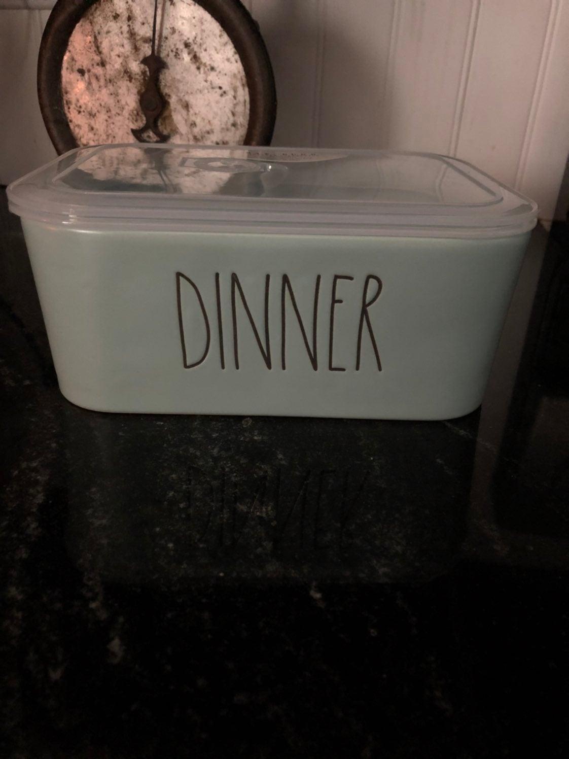 Rae Dunn new light  blue dinner leftover
