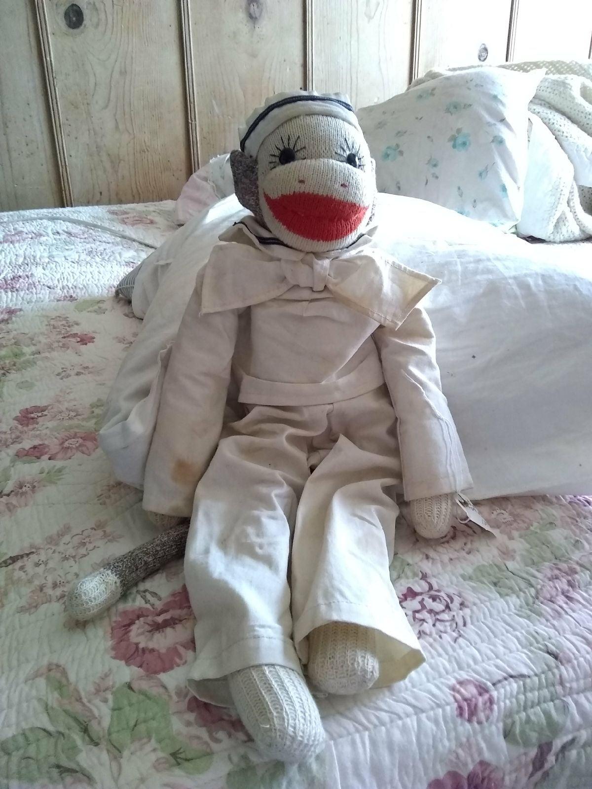 Sock monkey sailor crafts handmade