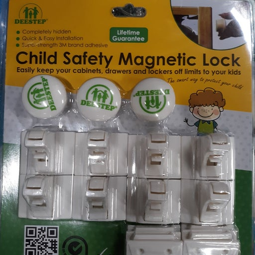 Child safety magnetic lock for cabinet