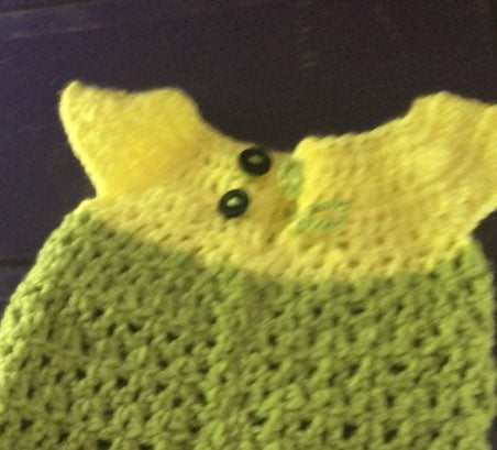New 2T dress dinsey green and yellow