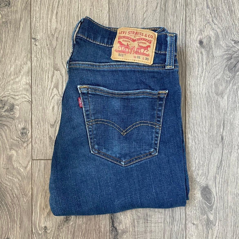 Mens Levis 511 Jeans 31x30 Dark Blue