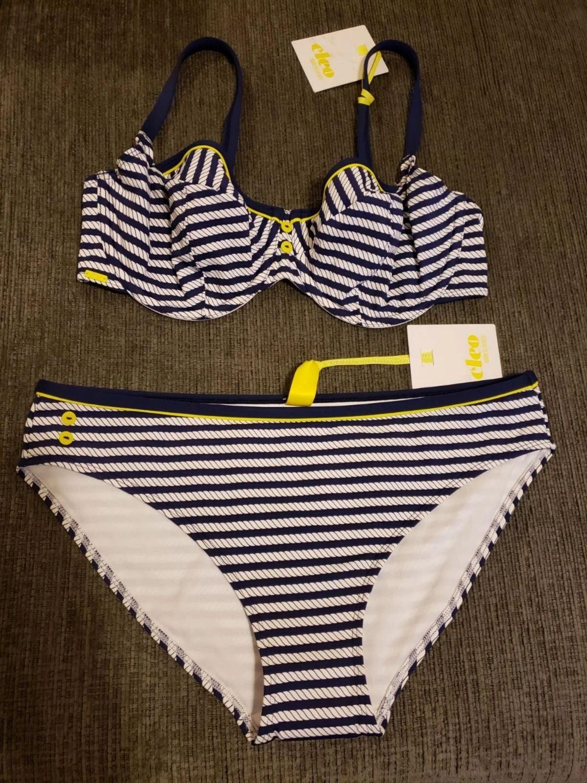 CLEO by PANACHE Bikini 36 E & Large NWT