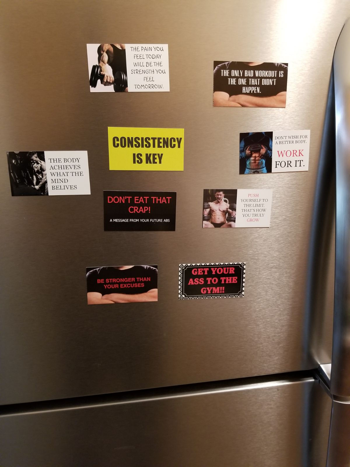 Weight Training  Motivation Magnets