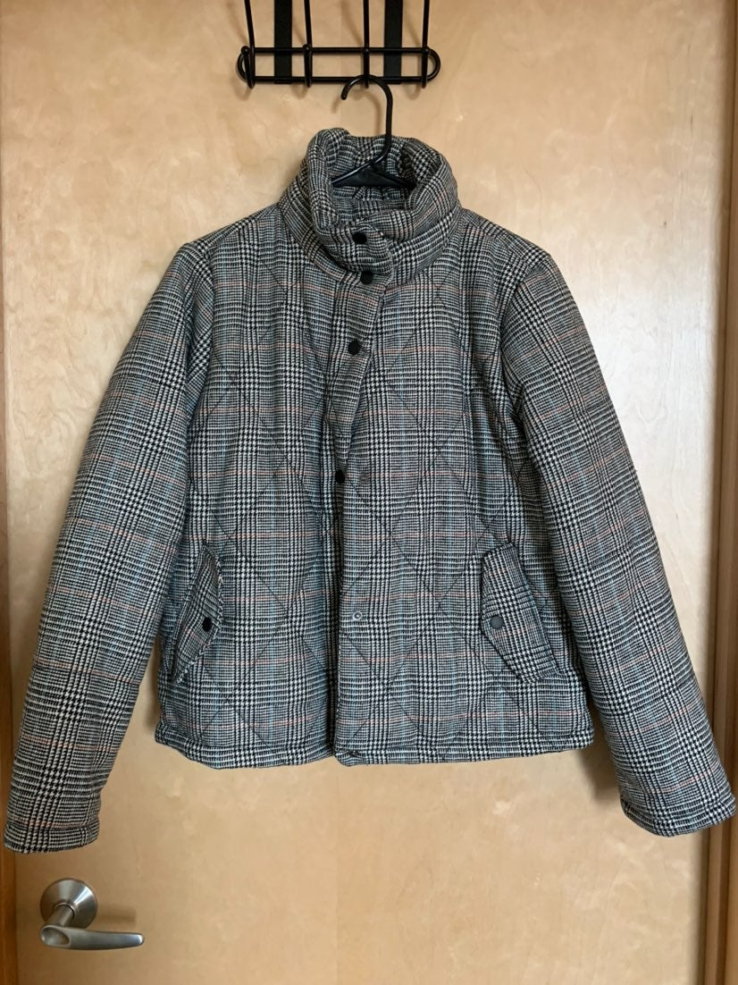 A New Day Plaid Puffer Jacket