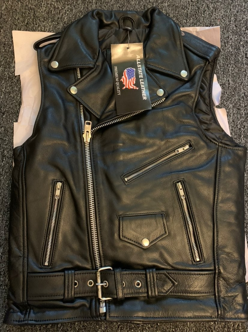 Allstate Leather motorcycle Vest
