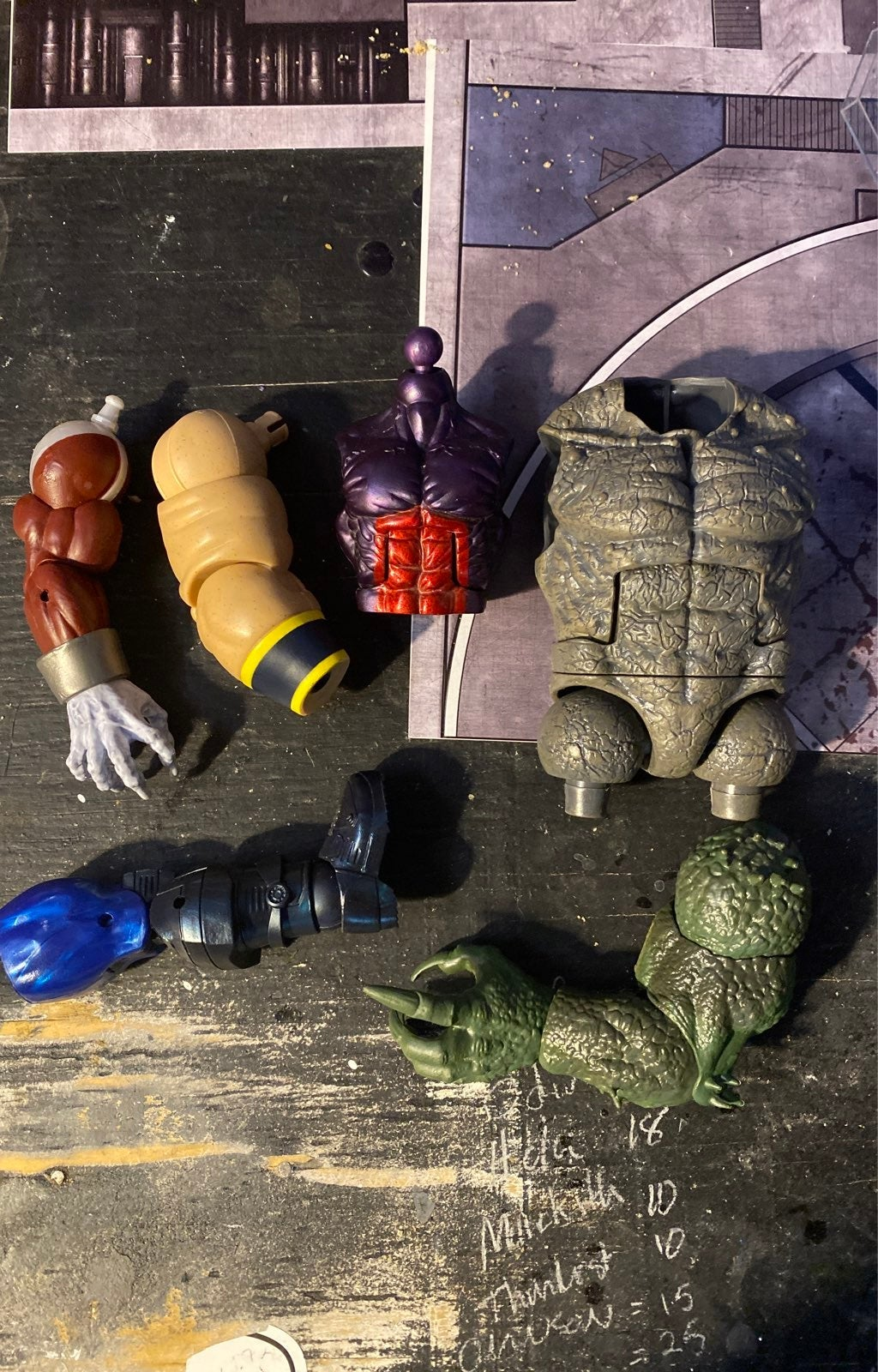Marvel Legends Build A Figure Lot
