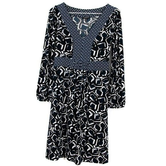 Nine West Petite Geometric Dress Size PP
