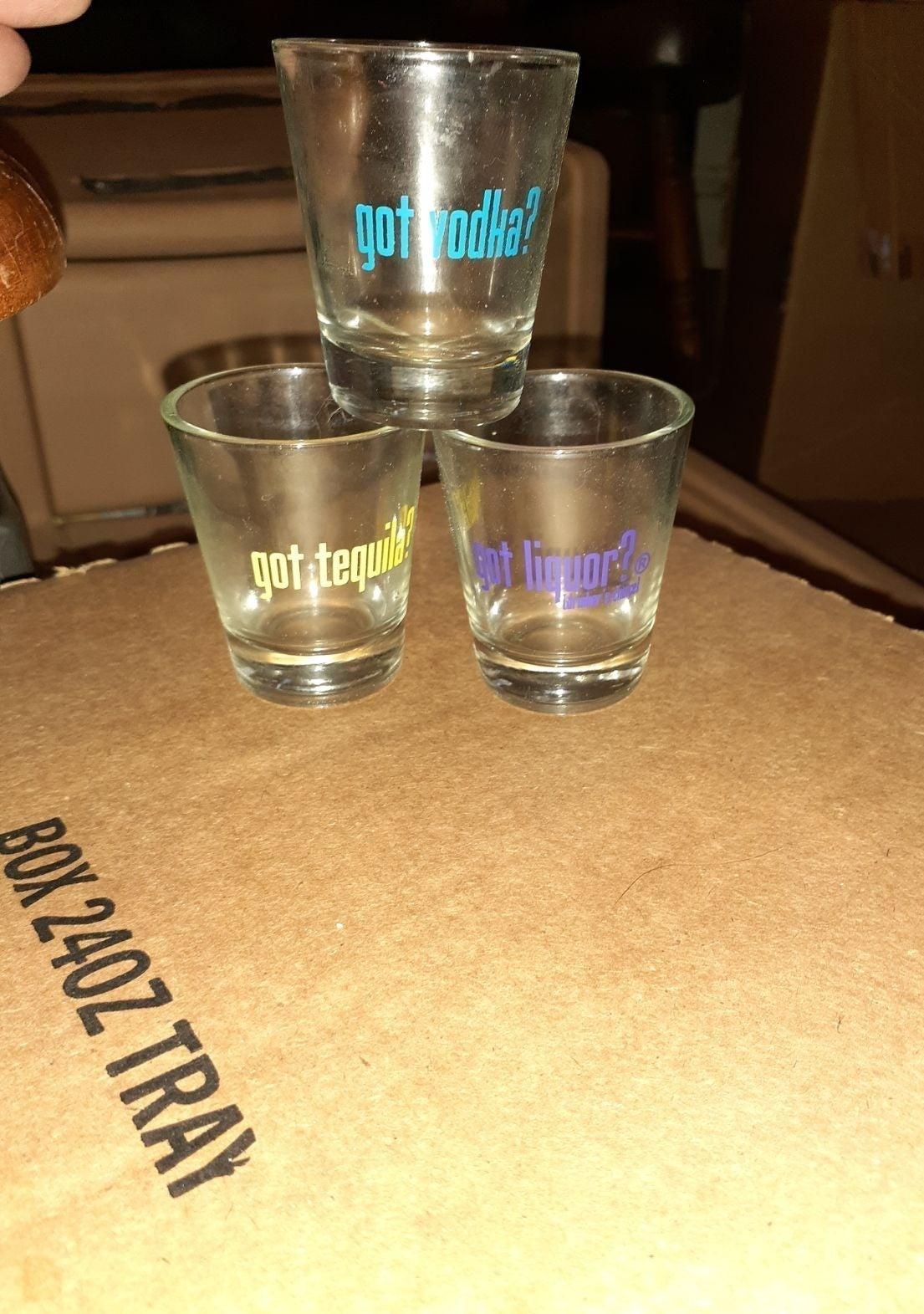 3 Liquor Shot glasses