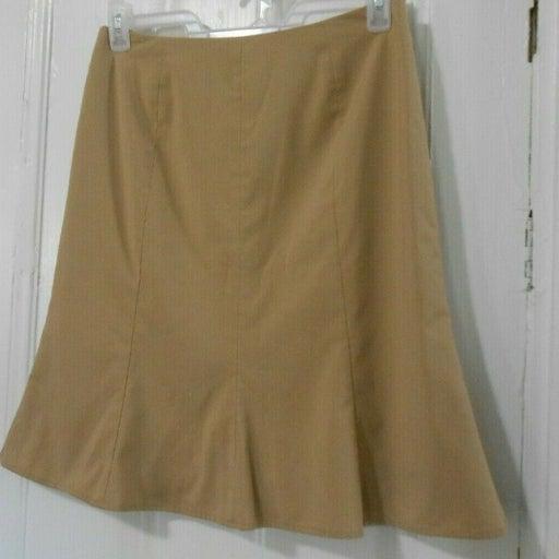 """Covington tan flared skirt 30"""" waist"""