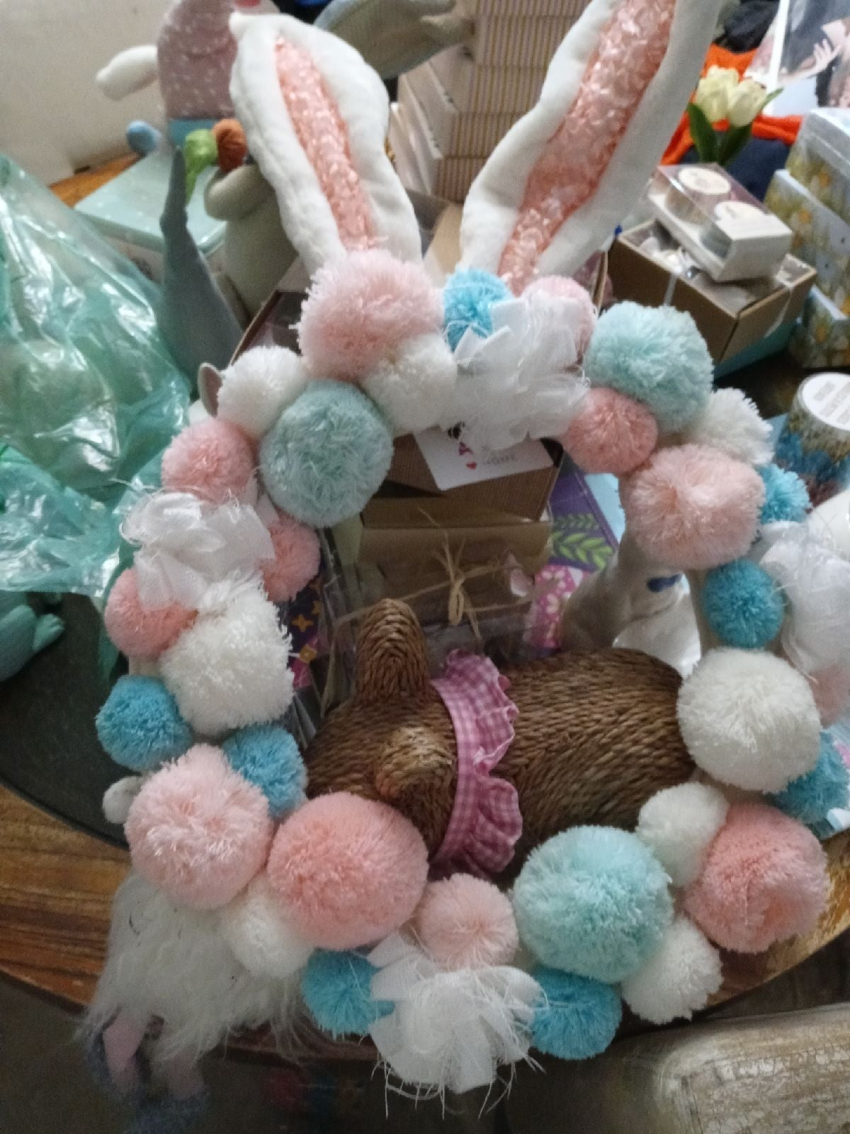 Novogratz rabbit decorational wreath