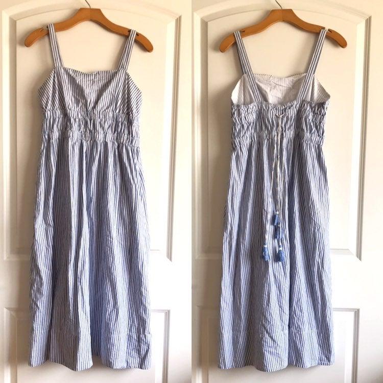 Club Monaco Striped Tassel Sun Dress