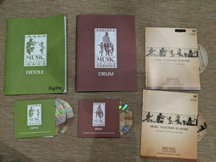 Lot CDs DVDs Music Together Fiddle Drum