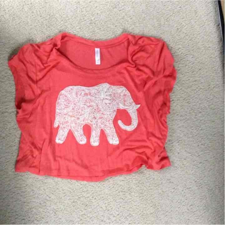 Stitched elephant shirt