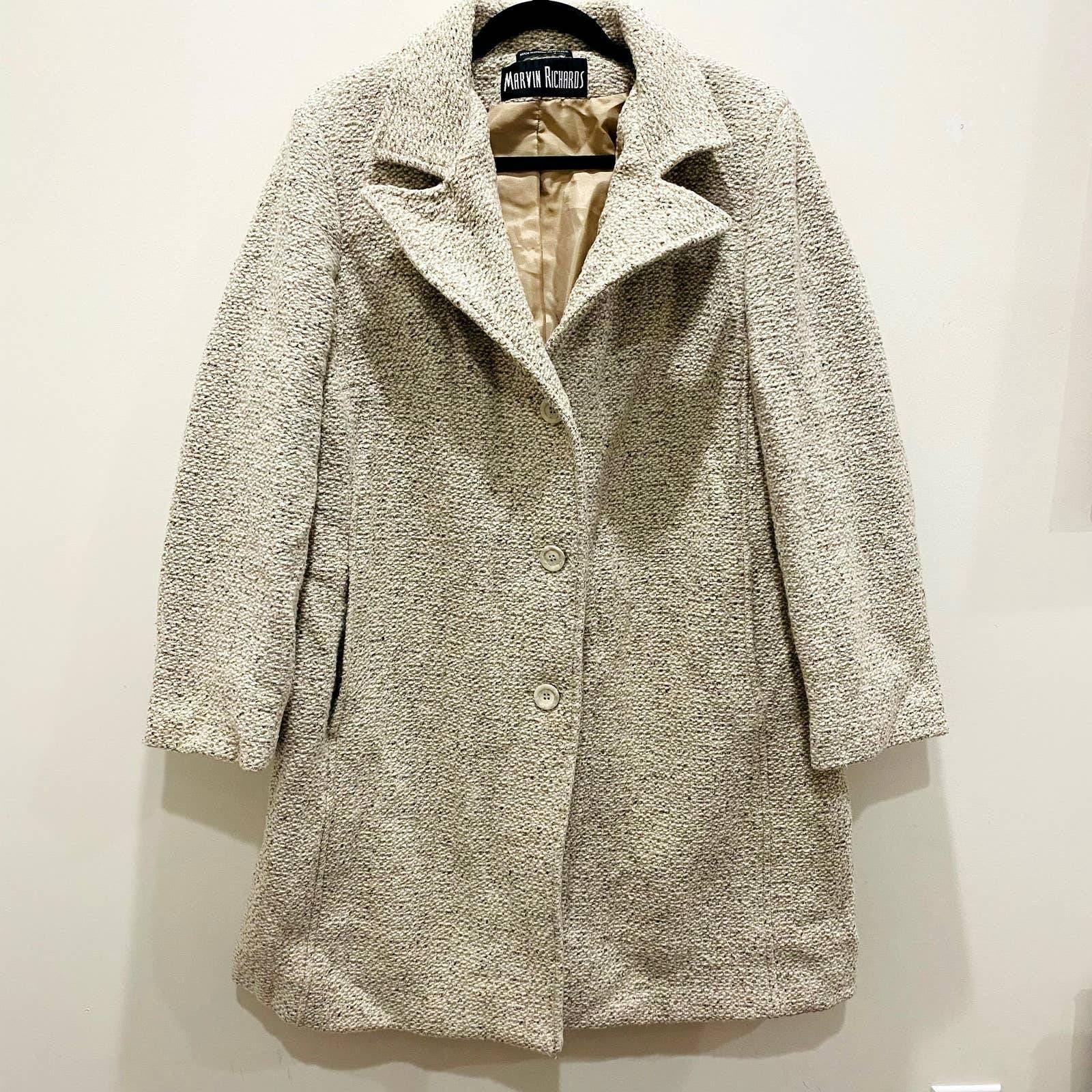 Vintage Marvin Richards Wool Overcoat