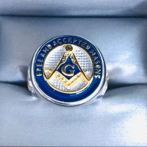 NEW Masonic ring,Mens Sz9, SSteel Master