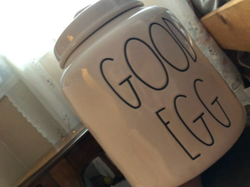 Rae Dunn canister Good Egg