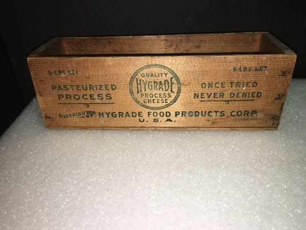 Vintage Hygrade 5Lb Cheese Box - Wood