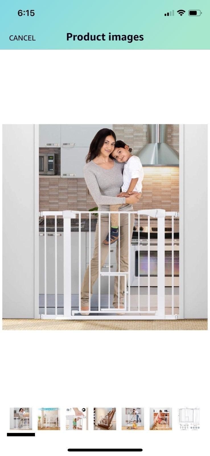 Baby gate with pet door
