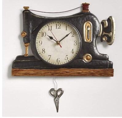 Sewing Machine Pendulum Wall Clock