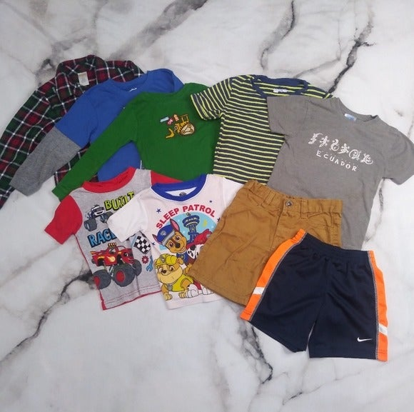 Boys Mixed Brand 9 Piece Clothing Bundle