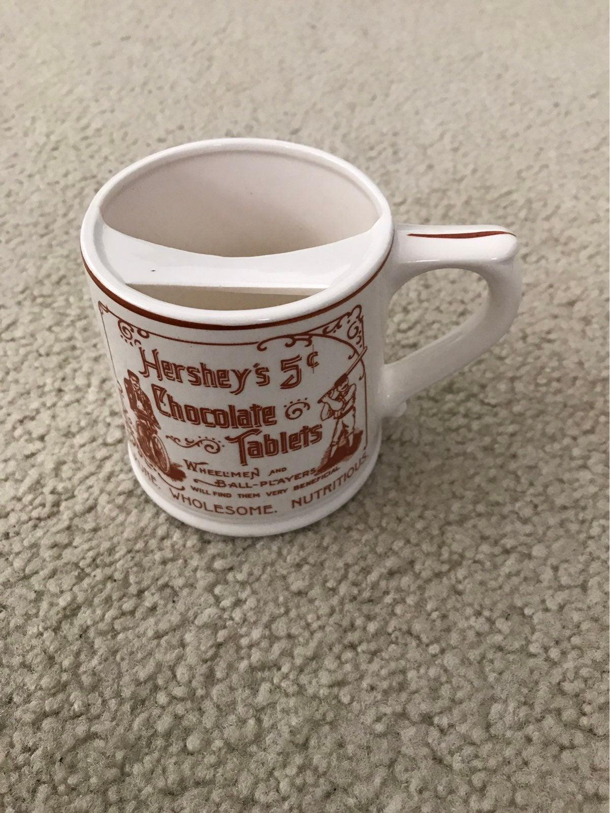Vintage Hershey's mustache coffee mug