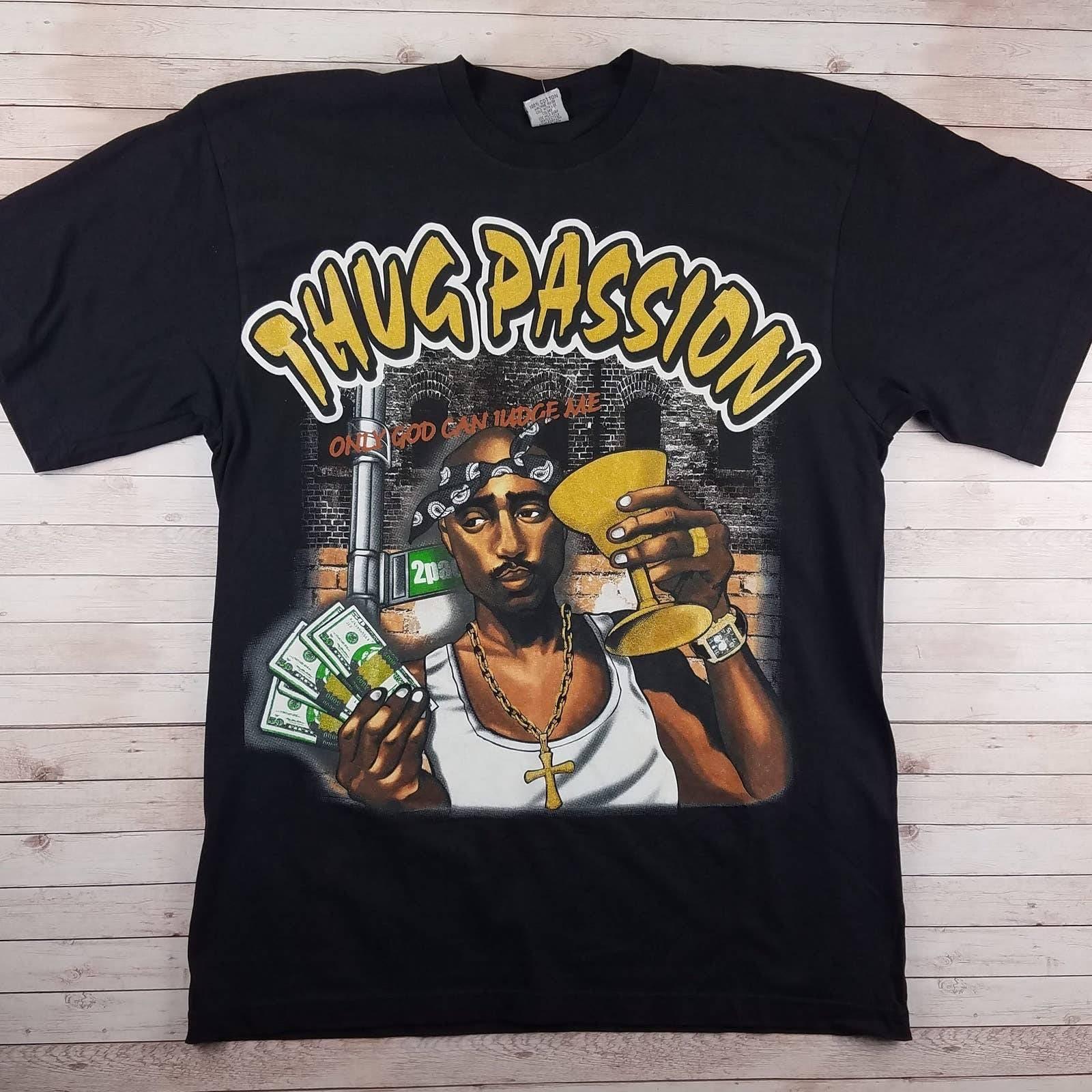 VTG 00s 2Pac Thug Passion Rap Tee Shirt