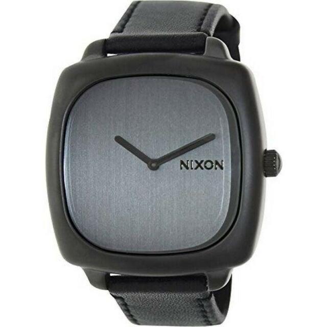 Nixon mens watch Gunmetal Grey & Leather