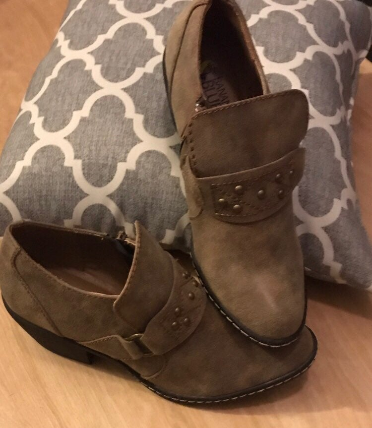 New Women's Taupe Ankle Boots Size 8