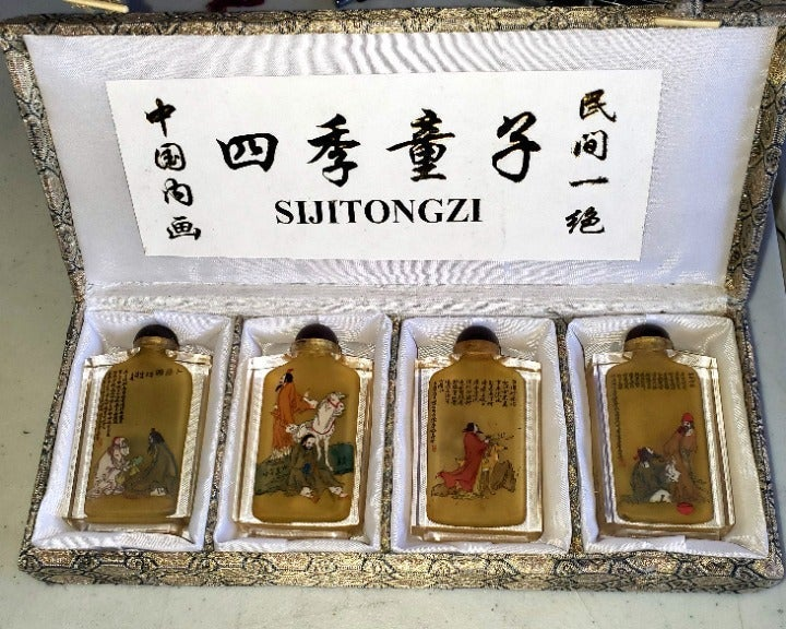 Chinese Reverse Paint Snuff Bottles