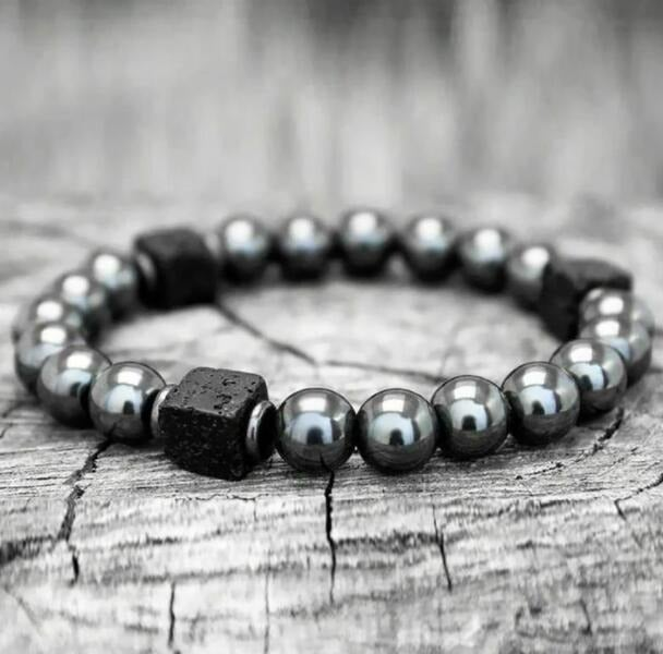 So Cool Lava Stone Strength Calming Bracelet +gift pouch