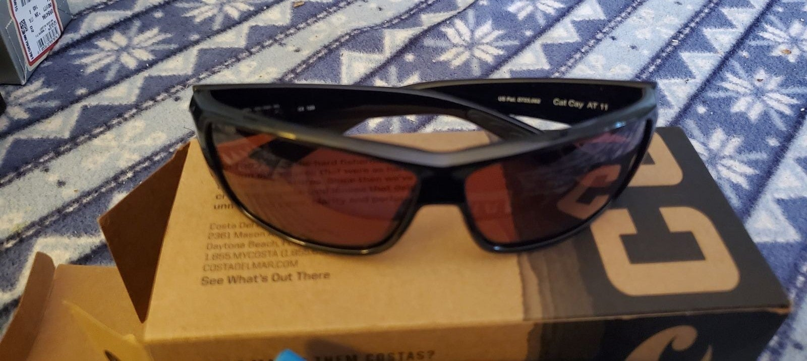 Costa sunglasses.