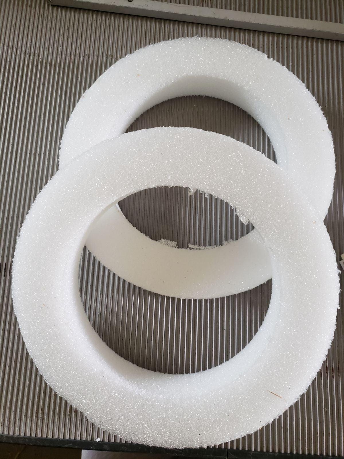 2 unused Styrofoam wreath circles