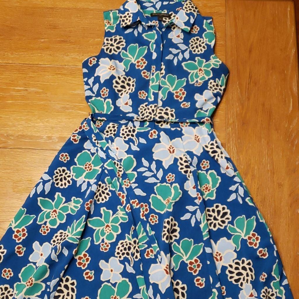 BANANA REPUBLIC Sleeveless Shirt Dress