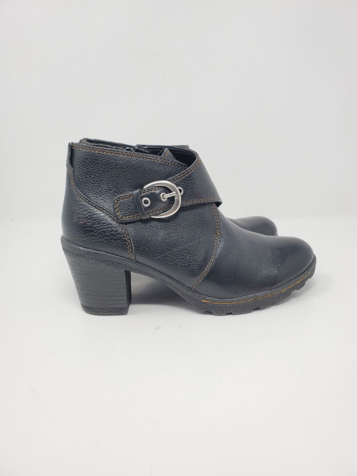 B.O.C. leather buckle bootie