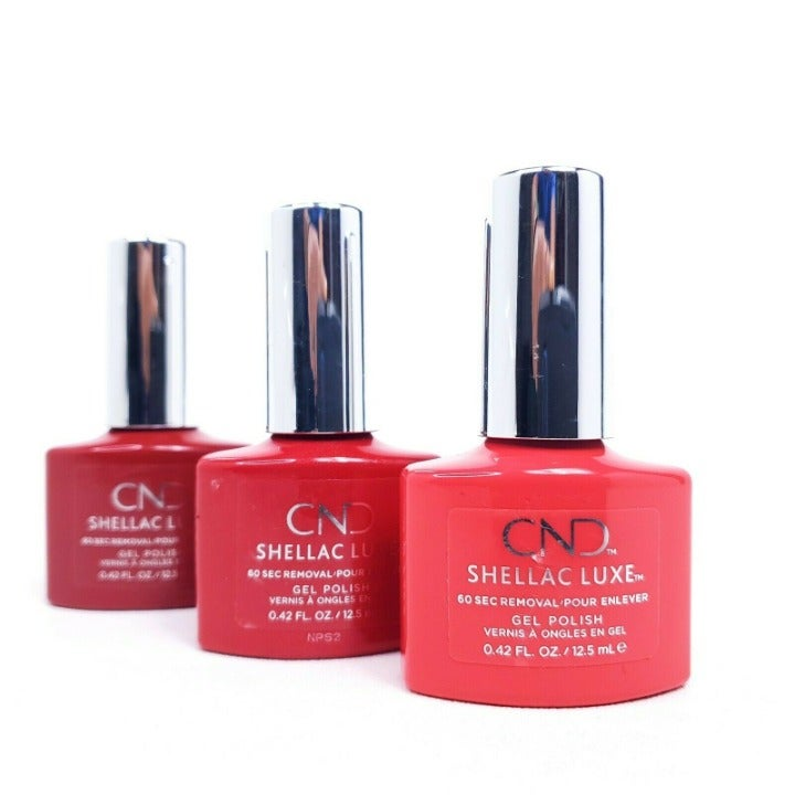 CND Shellac Luxe Gel Polishes Red Polish