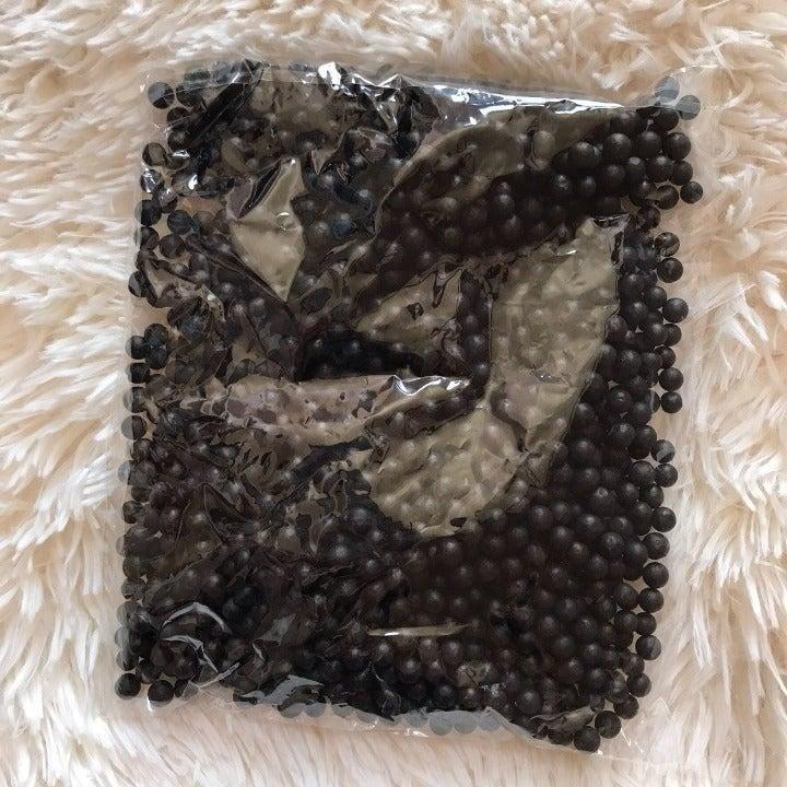 Large Black Foam Beads