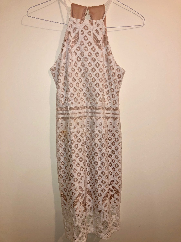 Lulus White Lace Midi Dress