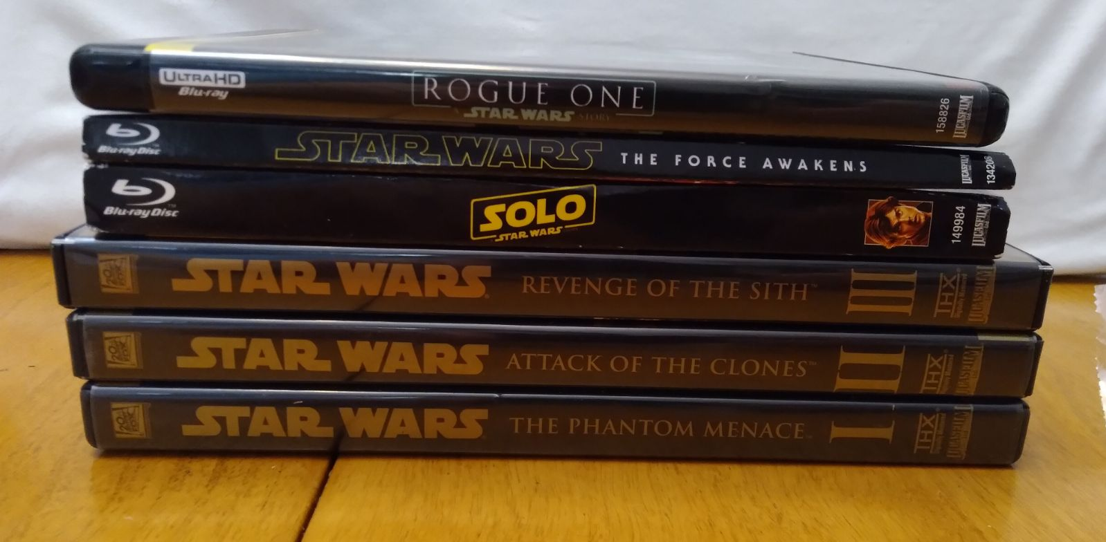 Lot of star wars DVD and blue rays