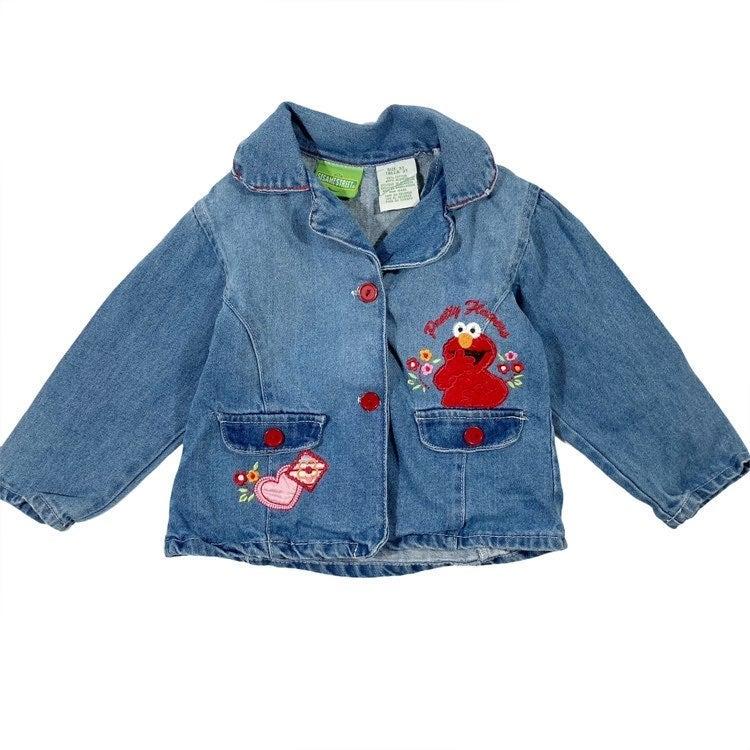 Sesame Street Girl 3T Elmo Jean Jacket