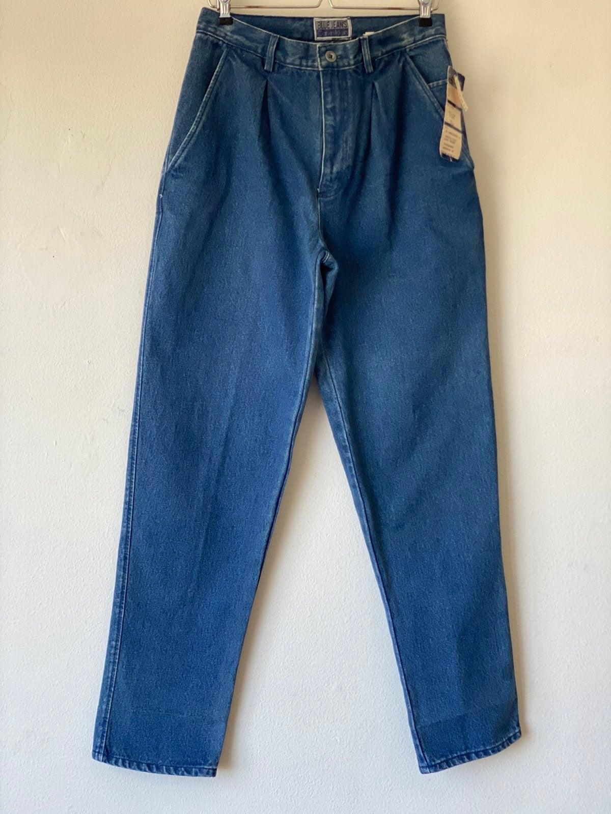 Vtg 80s Calvin Klein Blue Jeans Sz 32