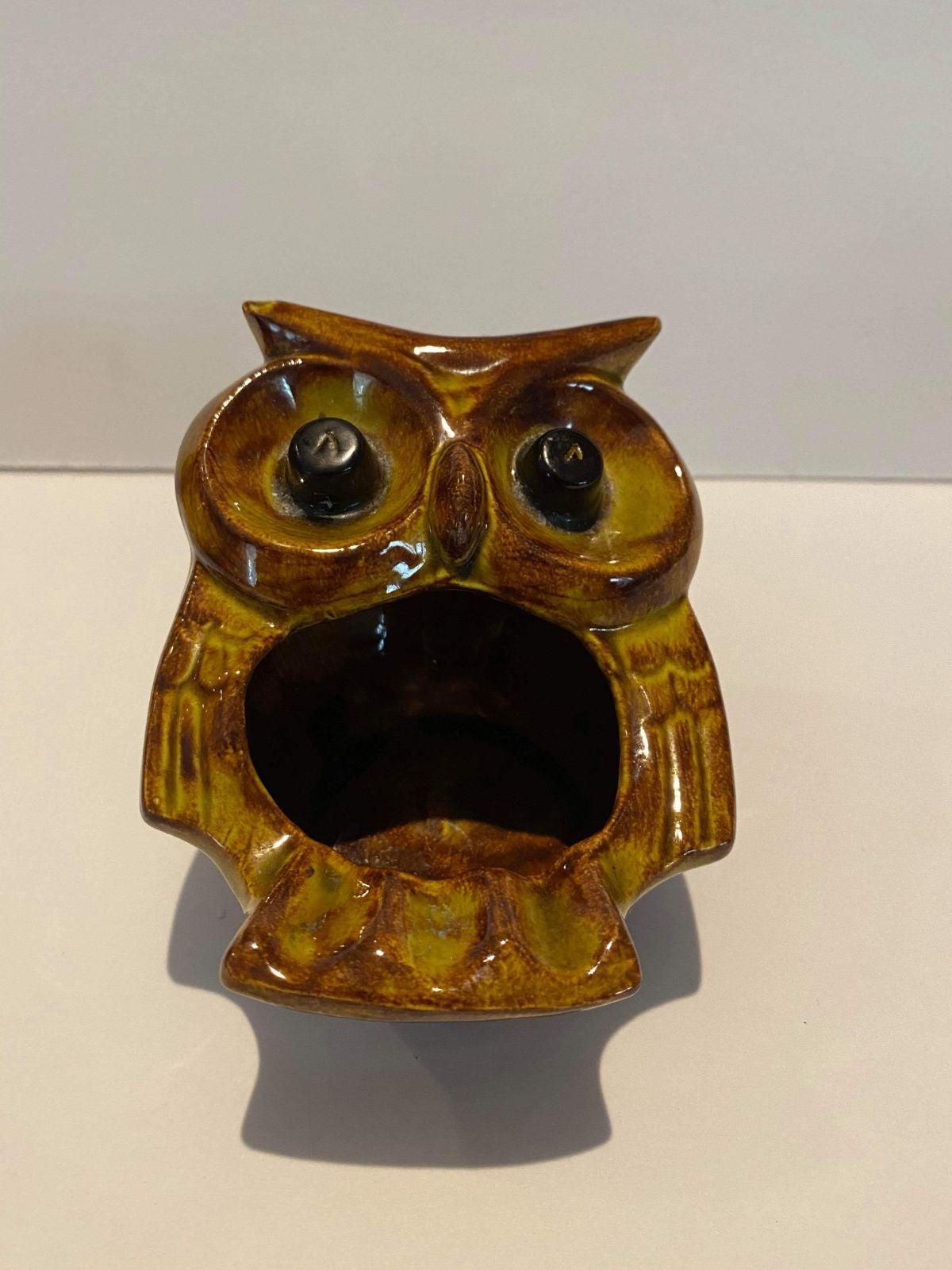 Midcentury Owl Ashtray