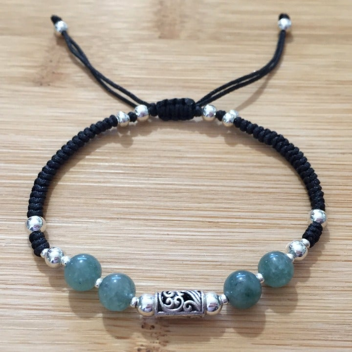 Green Malaysian Jade Braided Bracelet
