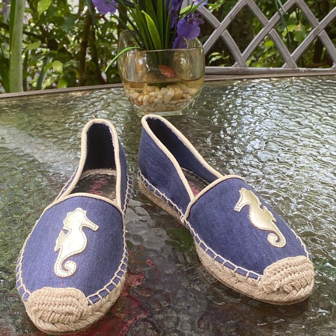 Lilly Pulitzer Blue Seahorse Espadrilles
