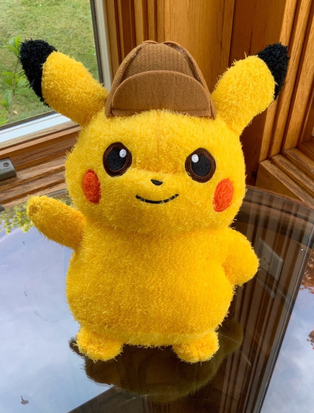 Detective Pikachu fuzzy plush Pokemon