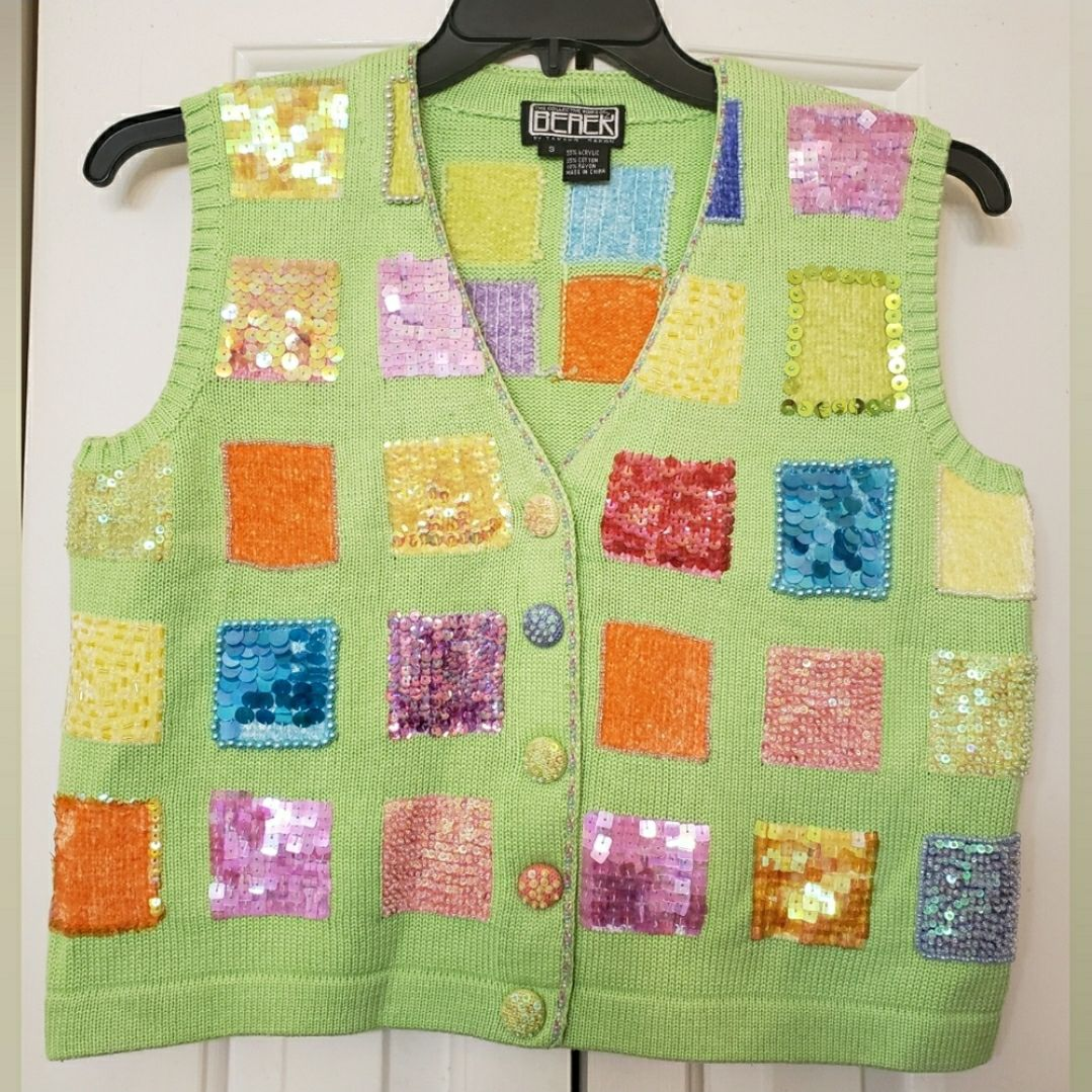 BEREK 2 Lime green Decorative Vest S