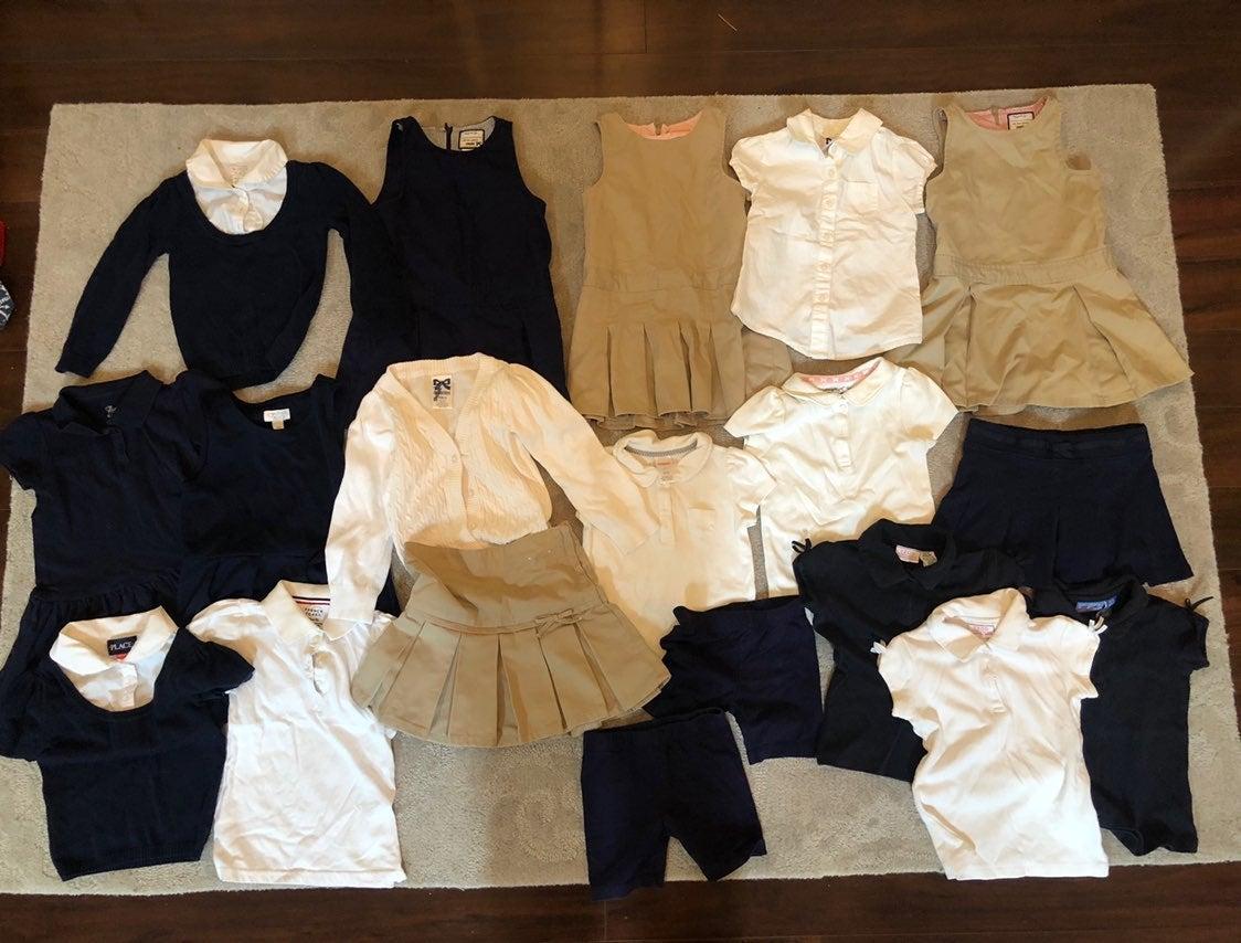 19 pieces of size 4 girls school uniform