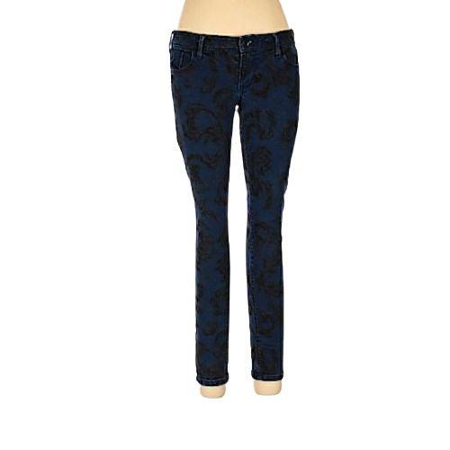 Old Navy Rockstar blue velvet jeans 4reg