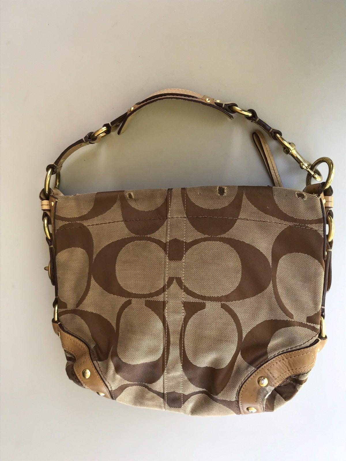 Coach CARLY fabric signature bag 12871