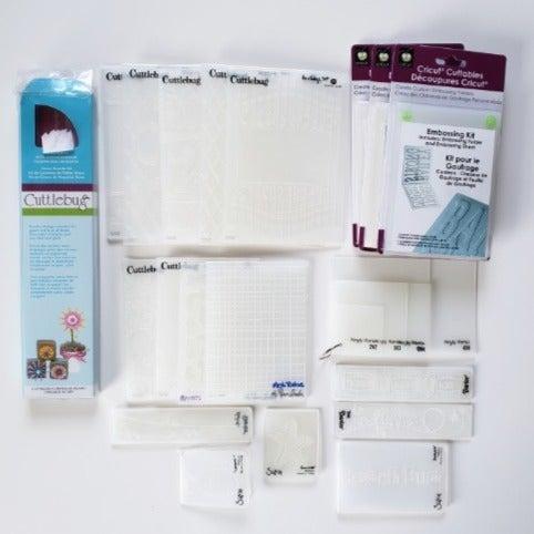 21 Embossing Folders & 3 Embossing Kits